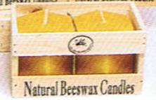 Beeswax Candle 25 hr hexagon pair