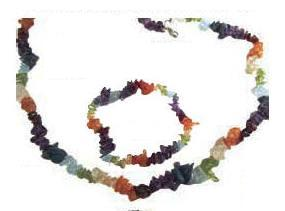 Chakra Chip Stone Bracelet & Necklace