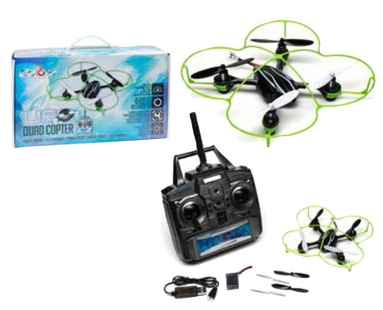 UFO Quad Copter 6 AXIS 4 CHANNEL 2.4GHZ DRONE 3 speed