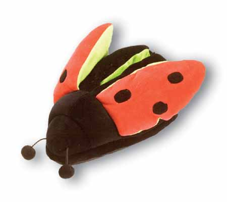 Fun Feet Slippers Lady Bug