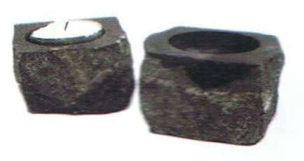 Solid Granite Tea Light Holder