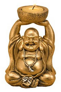 Happy Smiling Buddha Candleholder