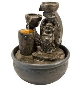 Happy Buddha Mudra Light Fountain