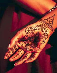 Henna Temporary Tattoo Kits hand