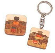 Canadiana Wood Inukshuk Magnets & Keychains