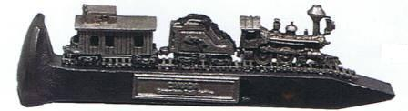 Large train on large rail spike