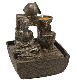 Meditation Buddha Light Fountain Soft Light