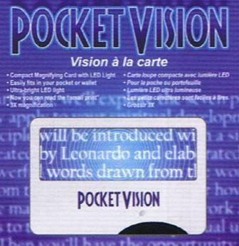 Pocket Vision Magnifying Card with LED Light