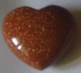 Goldstone Puffy Heart