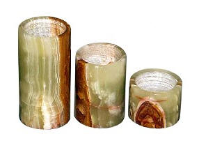 Rainbow Onyx Candle Holders 3 sizes