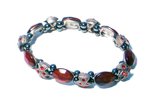 Magnetic Hematite Bracelet Royal Ruby