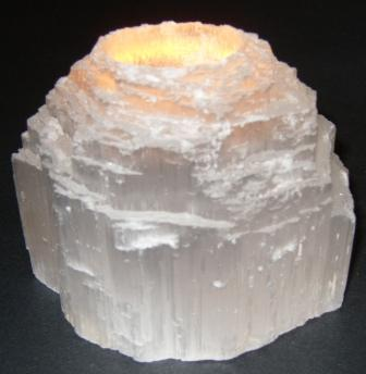 Selenite Mountain Candleholders