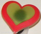 Shoe Charm Glow in the Dark Red Heart
