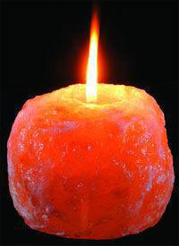 Himalayan Crystal Salt Tea Light Candle Holder