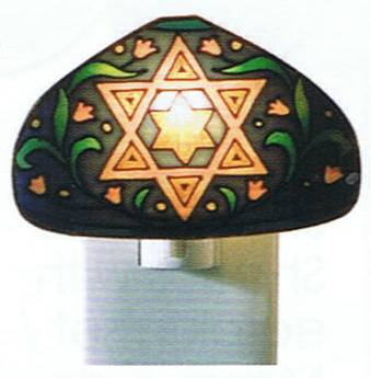 Tiffany Night Light Star of David