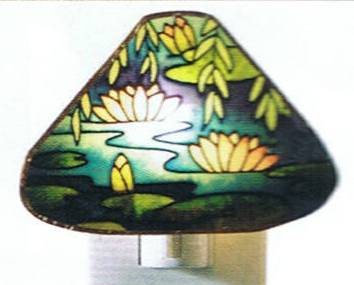Tiffany Night Light Water Lily