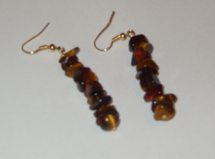 Tiger Eye and Red Tiger Eye earrings